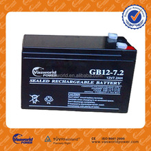 Battery manufacturer low price for agm ups battery 12v 7.2ah