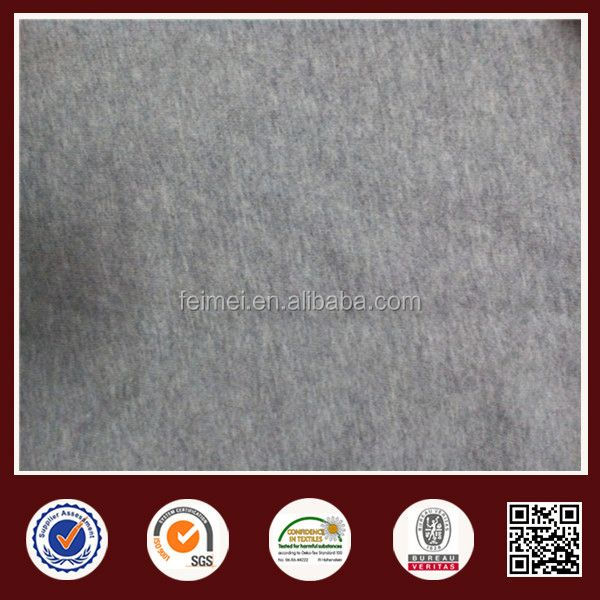Gray Terry Knit Fabric Tube Cotton