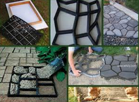 DIY garden pathway stepping stone mold