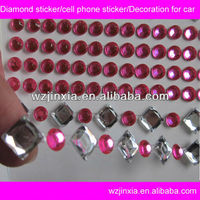mobile phone decoration crystal rhinestone stickers for cell phone