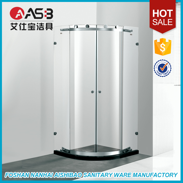 Shanghai China frameless 8mm Tempered Glass shower door slide