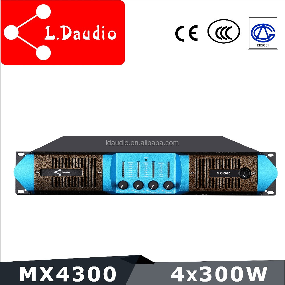 4 channel 300w electronic signal power amplifier
