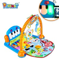 HX9107 hot item baby kick and play gym mat toys ,baby educational toys