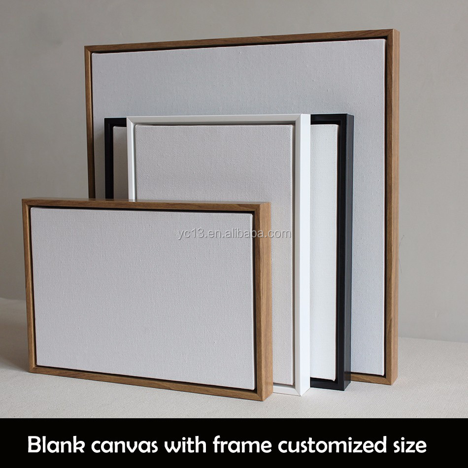 framed linen blank mini stretched canvas for paintings