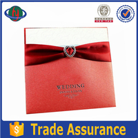 Top quality customised fancy handmade greeting wedding invitation card