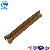 DW good quality C/E locking zipper slider plastic folder with zipper