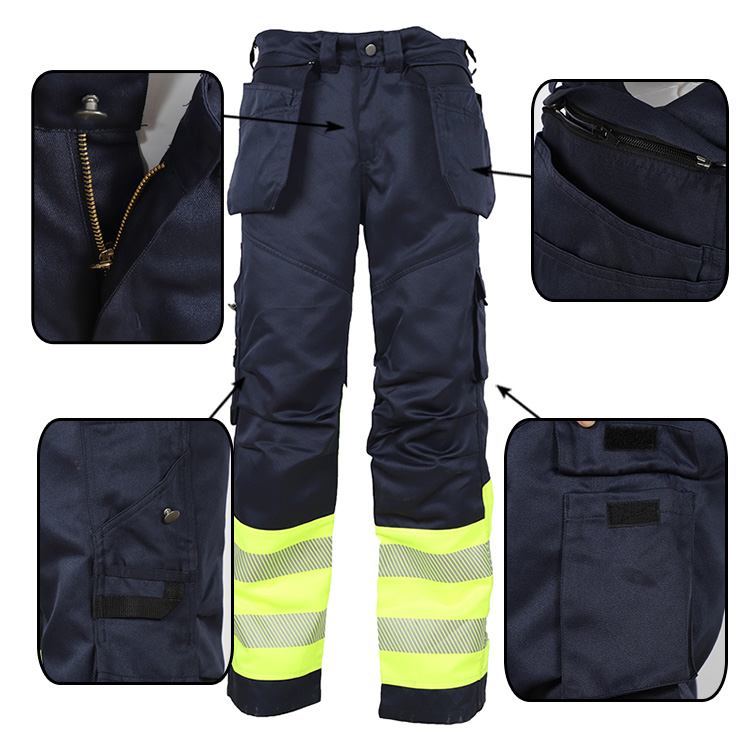 high quality cotton nylon arc flash prevention pants for worker