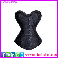new design fashion overbust steel bone black full body corsets