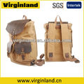 Fashion Casual Heavy Duty Cool Outdoor Canvas Leather Backpack Waterproof