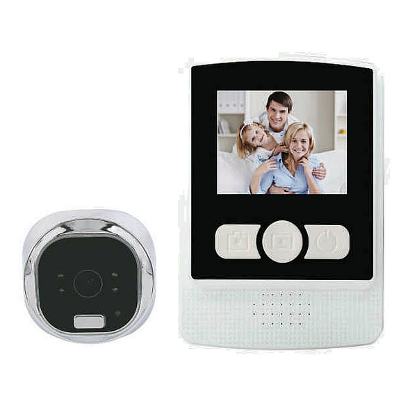 2.4inch Digital zoom mini wireless hidden camera video door bell with two types recording + night vision