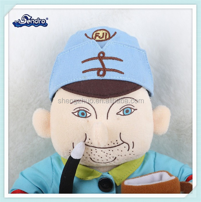 professional funny plush stuffed toy human doll for kids