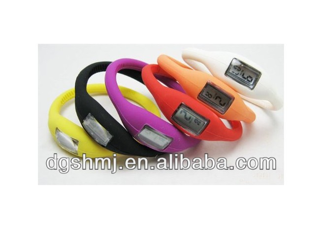 Silicone Rubber Anion Ion Wrist Band Watch For Girl LADY Women Men
