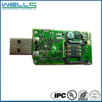 Printed circuit board assembly FR4 circuit boardparts rigid cell phone circuit boards