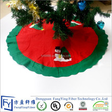 wholesale polyester felt cheap christmas tree skirts