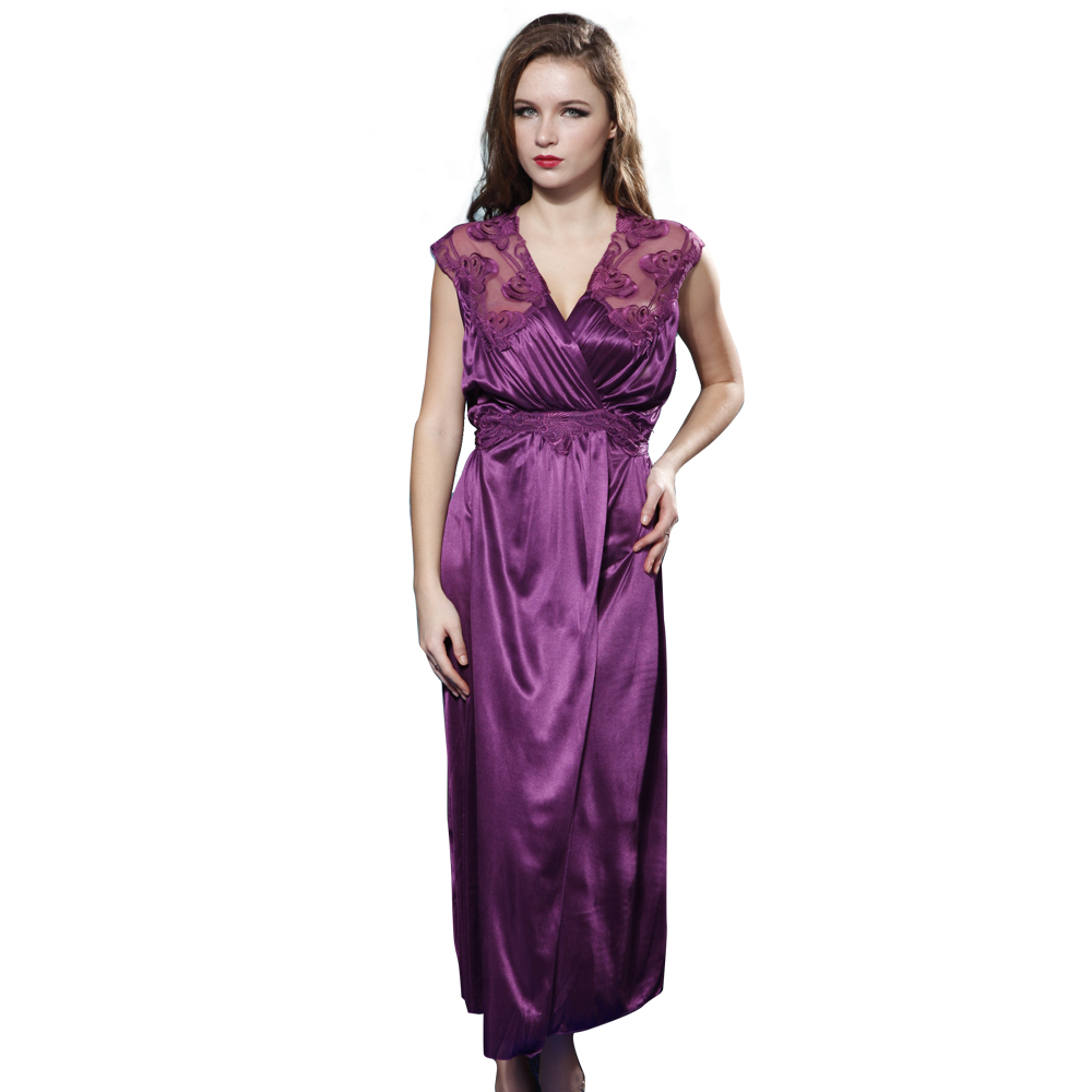 China factory satin long sexy lingerie plus size sleepwear underwear women hot