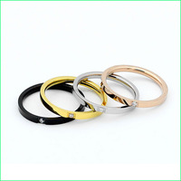 High quality stainless steel diamond ring,womens gold rings jewelry LC1014-2