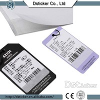 2015 china factory direct recycled paper garment tag hot sale