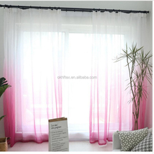 Rosa <span class=keywords><strong>cortinas</strong></span> color degradado imprimir Sheer <span class=keywords><strong>voile</strong></span> <span class=keywords><strong>cortinas</strong></span> <span class=keywords><strong>de</strong></span> tul