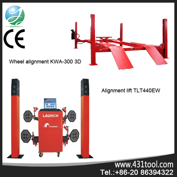 Easy for operation LAUNCH TLT440W wheel alignment 4 post pneumatic motorcycle lift