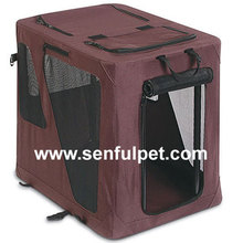 Portable Pet House Soft Travel Crate Foldable Carrier Cage Kennel