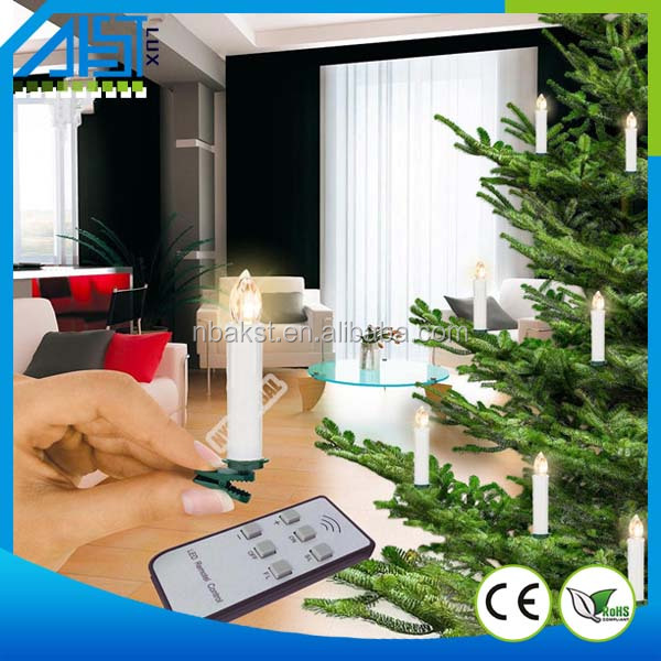 Christmas tree flameless led candle with remote control