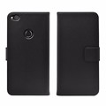 Black leather cover for huawei P8 lite 2017 PU case