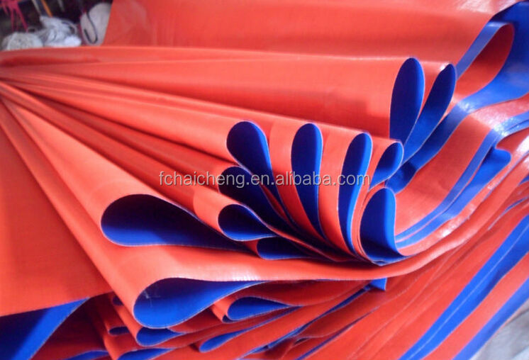 Waterproof pe plastic tarp, Mesh Shade Tarps, orange colour PE tarpaulin sheet