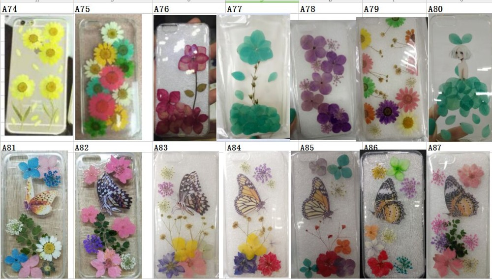 Handmade Real Daisy Pressed Flower Phone Case For iPhone6S/6Splus for Huawei P7 P8 For Xiaomi