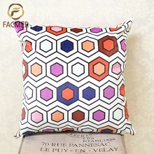 Wholesale Home Decor Colorful Geometry Printed Sofa Waist Cushion Covers