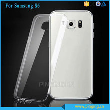 Slim silicone clear transparent soft tpu case cover for samsung galaxy s6