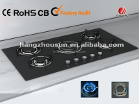 hot sale tempered glass gas cooktop with 5 burner