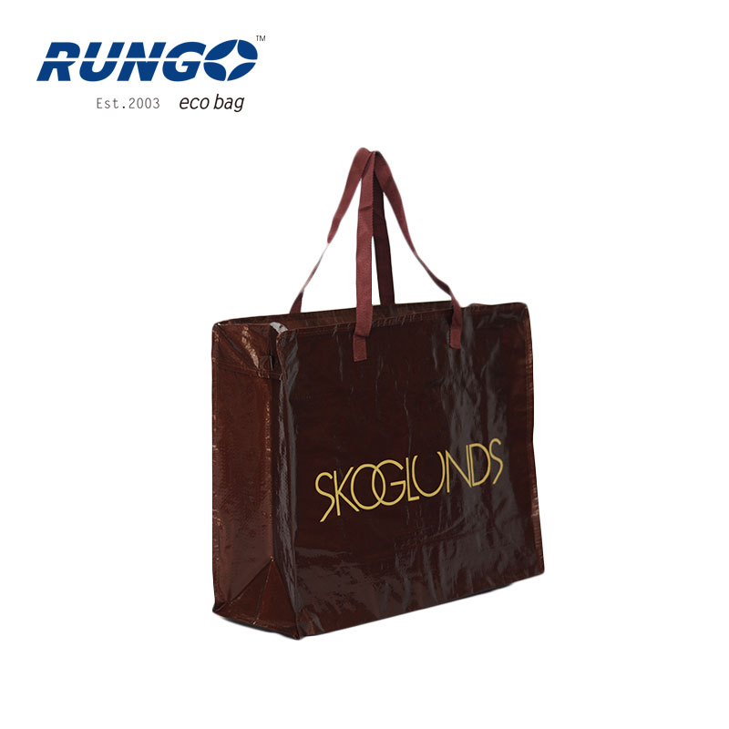 Customized High Quality Laminated PP Woven Bag,Shopping Bag Logo With Zipper