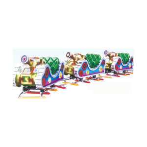 Cool design amusement park toy train QX-132B/ electric train for kid's park / electric ride on train with tracks