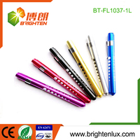 Factory Bulk Sale Aluminum Material Dry Battery Operated Bright Pocket led penlights for nurses