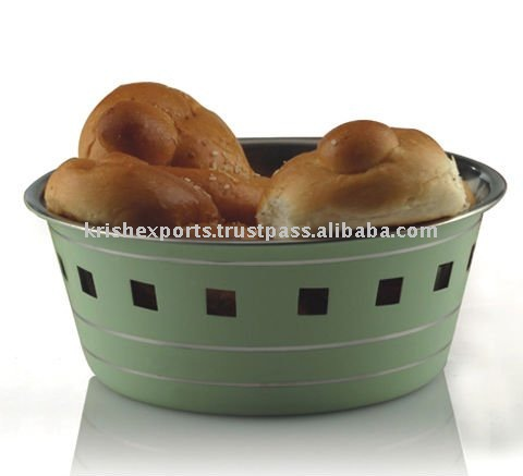 Colored Regular Bread Basket with Square Cutting