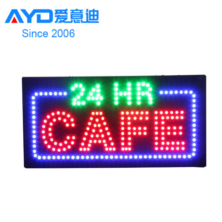 Easy Hang on Aacrylic LED Open Sign for Coffee Shop