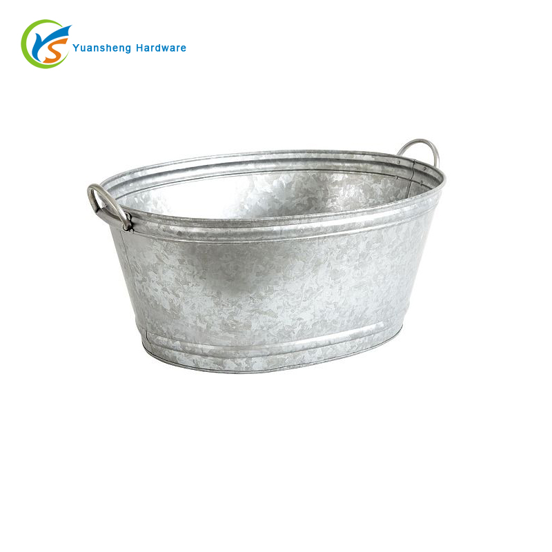 Nature Galvanized metal large oval party tub