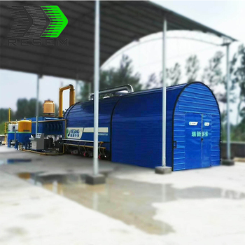 High quality no pollution automatic waste tyre recycling plant