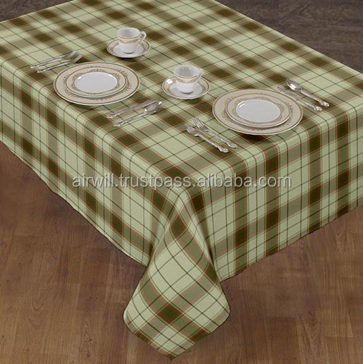 yarn dyed checked table cloth