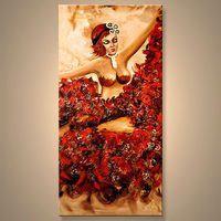 China Factory Sexy Nude Woman Canvas Oil Painting For Home Decor