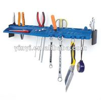 pegboard Storage Steel Hanger Garage Organizer Rack,plastic wall mounted hand tool holder organizer hanging panel board(402701)