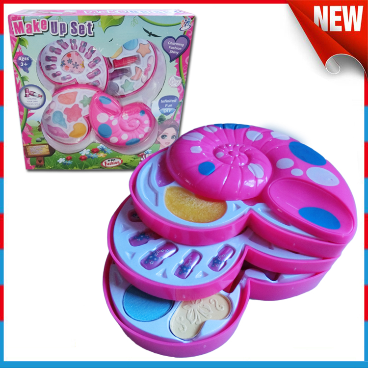 childrens cosmetics conch 4 layer kids play makeup sets