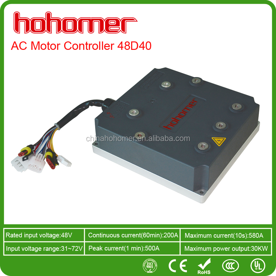VECTOR CONTROL AC Motor Controller Electric Vehicle DC48V 400A 25kW