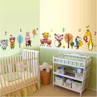 Cartoon Animal Sticker for kids room wall decoration home decor