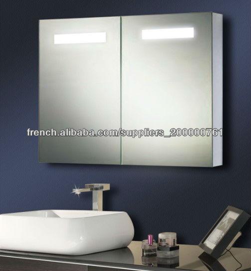 chaud-vente de salle de bain éclairée armoire murale ...