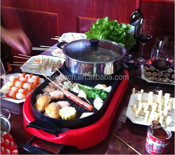 cold winter necessity home mini hot pot table bbq grill gloves HJ-BBQ002