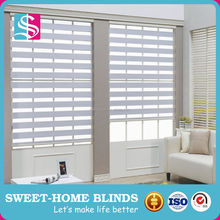 Lowes Price Fashion Indoor Clear Zebra Roller Blinds Fabric / Sun Shade