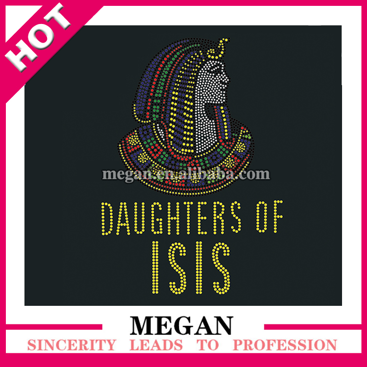 wholesale Daughters of ISIS custom hot fix rhinestone transfer for T-Shirt
