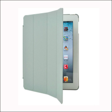 Smart cover pu leather tablet case for ipad2/3/4 with folded bracket