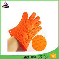 Food grade silicone finger protector oven bbq grill mitt items for Heat Resistant Grilling silicone bbq glove